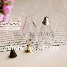 Free Shipping!!! Hot sale!!30sets/lot 31X18MM Tear Drop Glass vial Pendants glass vase cover bottle DIY jewelry charm pendant