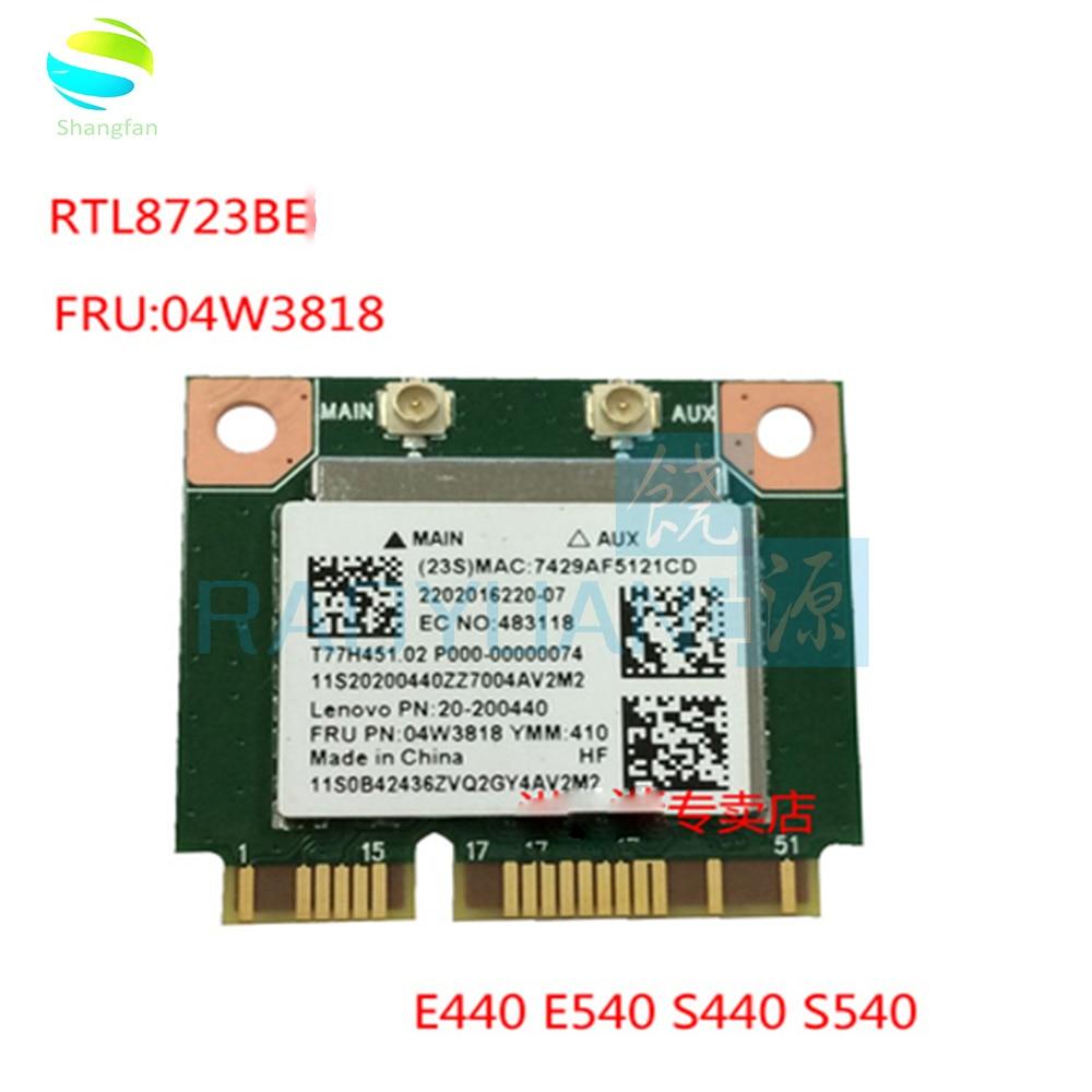Tarjeta Wifi inalámbrica para LENOVO ThinkPad E440 E540 S440 S540 RTL8723BE 04W3813 tarjeta inalámbrica Bluetooth
