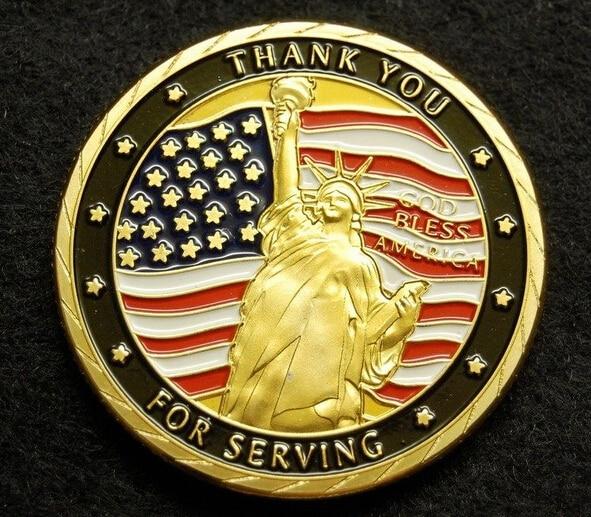 Ventas calientes de las fuerzas armadas de los EE. UU. monedas de metal personalizadas a bajo precio FH810212