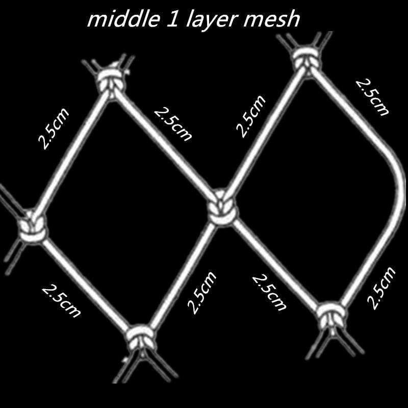 quality gill net H5M*L100M 3layer 2.5cm mesh sink net fish trap trammel fishing net outdoor pesca reservoir fishing network enlarge