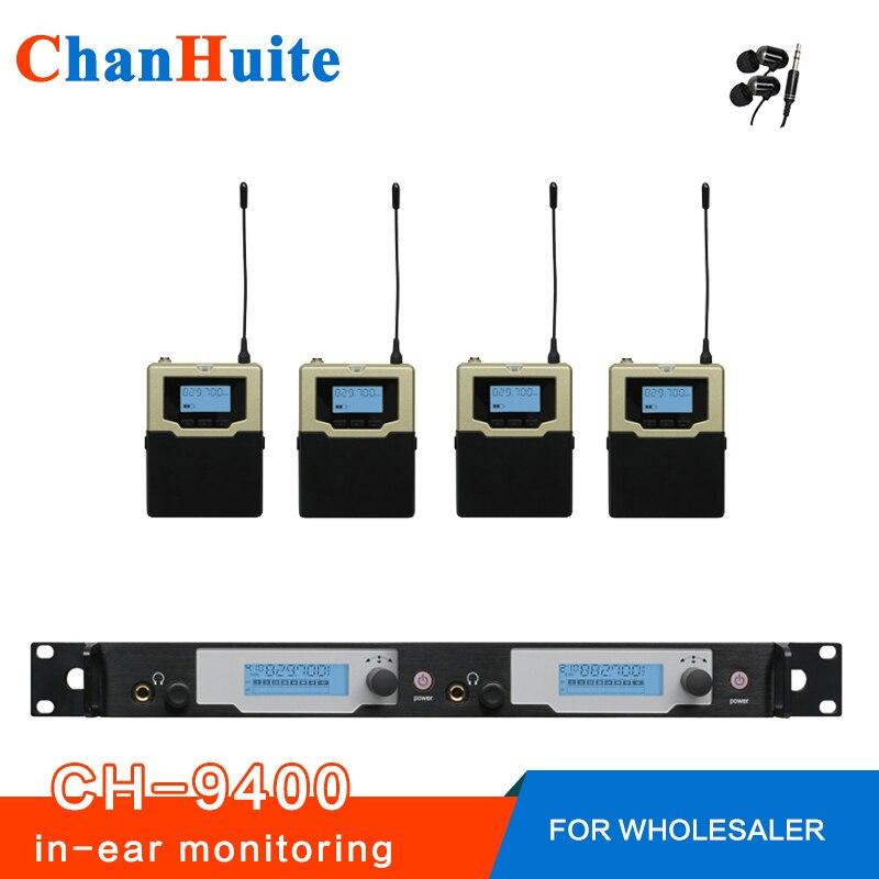 أعلى جودة! شاشة داخل الأذن احترافية ، نظام مراقبة لاسلكي داخل الأذن ، شاشة كاملة لـ 4 مستخدمين ، جهاز إرسال IEM 2 ، 4 أجهزة استقبال