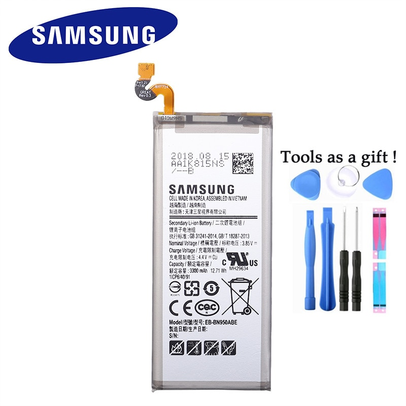 SAMSUNG оригинальный запасной EB-BN950ABE батареи для Samsung GALAXY Note 8 Note8 N9500 N9508 SM-N950F проект Baikal 3300mAh