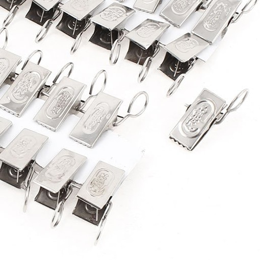 Boutique Arqueadas 40 Pcs Tons de Prata do Metal Jacaré Clips w Gancho Da Cortina