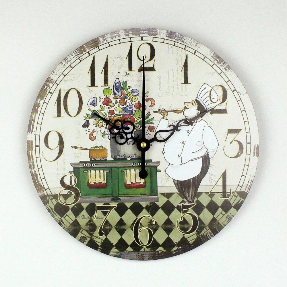 Cocina Reloj de Pared Con Esfera Del Reloj A Prueba de agua de dibujos animados de Diseño Moderno Comedor Sala de Decoración Reloj de Pared de Decoración Del Hogar Regalo relojes pared reloj pared cocina