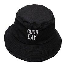 Men Women Good Day Bucket Hat Hip Hop Fisherman Panama Hats Embroidery Cotton Outdoor Summer Casual  Visor Bucket Cap