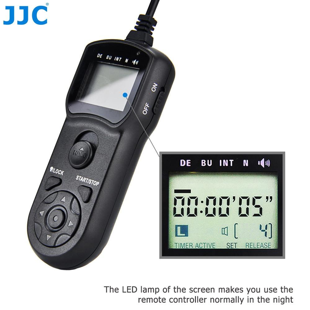 Controlador de liberación multifunción JJC, temporizador, cable de obturador remoto para Canon EOS 850D 1Ds Mark III 5DM4-1D X Mark II 7D MARK II