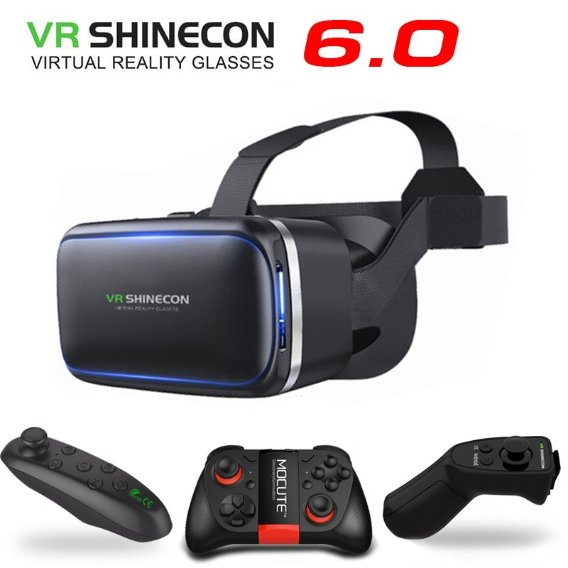 Shinecon-Gafas de Realidad Virtual Be 3D originales, VR 6,0, carcasa Para teléfono...