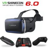 Оригинальный VR Shinecon 6,0 реальность виртуальный быть 3D Gafas картн Casco Para 4,0-6,3 Pulgadas смартфон Cont