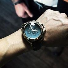 Megir 3006 mens fashion quarzuhr wasserdichte armbanduhr echtes lederband uhren mann freies verschiffen