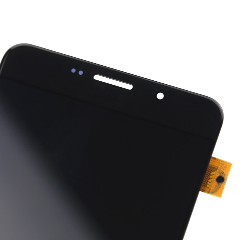 Good black For A9 2016 lcd display OEM quality For mobile phone A910 A910F A9100 A9 pro lcd screen replacement assambly enlarge