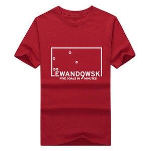 2018 NEW robert Lewandowski five goals in 9 minutes T-shirt 100% cotton short sleeve o-neck T shirt 1102-4