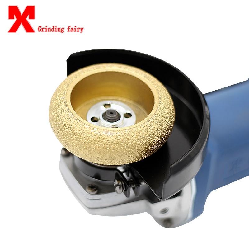 MX Roman Column Semi-Circular Concave Grooved Angle Grinding Machine Stone Grinding Wheel Grinding Head Gold Steel Stone