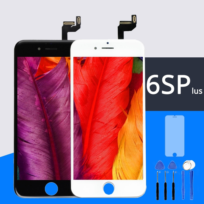 100% No Dead Pixel AAA for IPhone 6S plus LCD Display Touch Screen 5.5 inch Digitizer Assembly Replacement Tempered film+Tools
