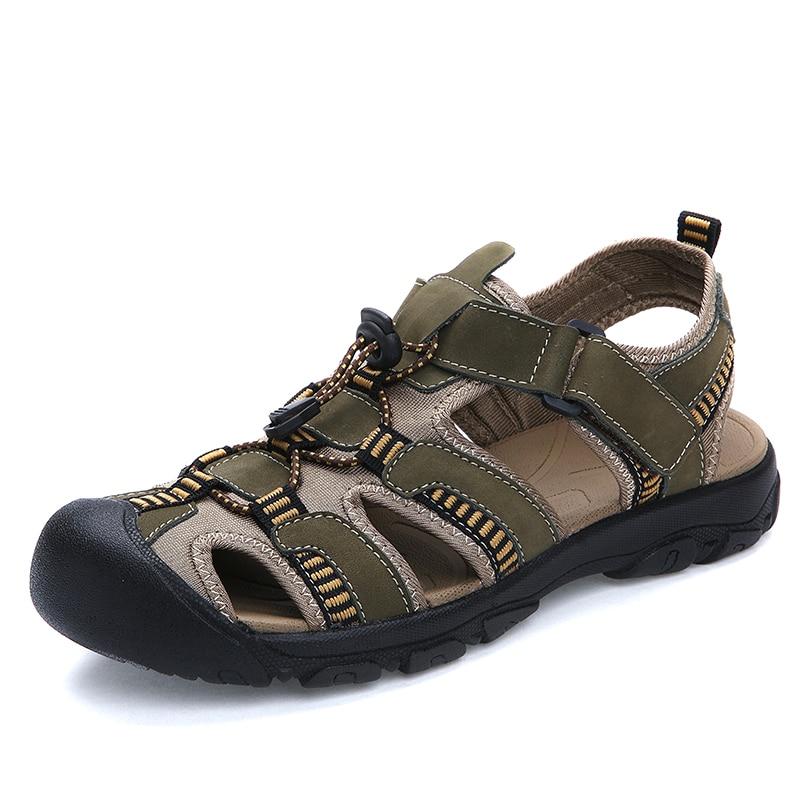 Verano playa Casual hombres gladiador Sandalias moda cuero Sapato Masculino Sandalias ocio Zapatos Hombre plataforma zapatillas