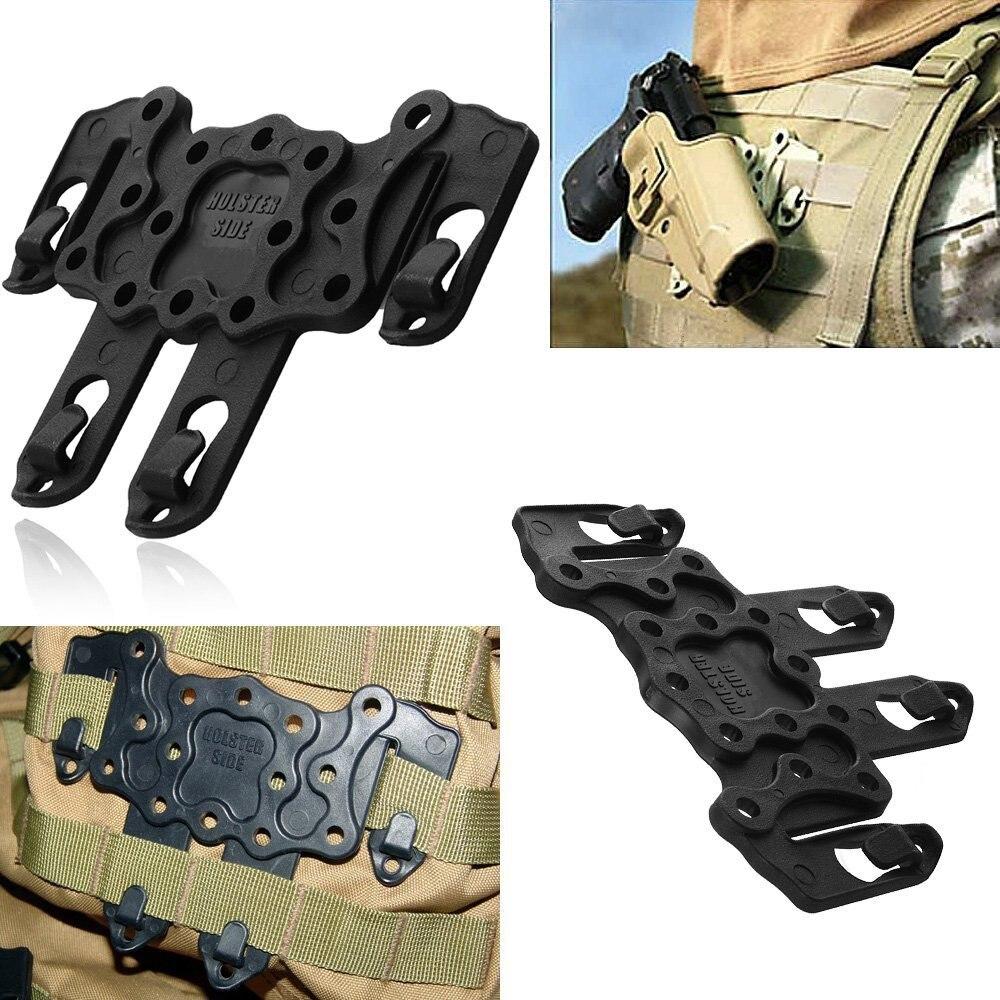 Molle militar táctico Strike CQC estilo Speed Clip plataforma funda rígida ambidextro Strike Holster Rail Case Mount