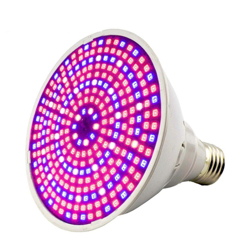 290 LED E27 Luz de cultivo de plantas 30W espectro completo PVC planta de interior luces de cultivo azul + rojo + blanco + IR LEDs para hidroponía verde