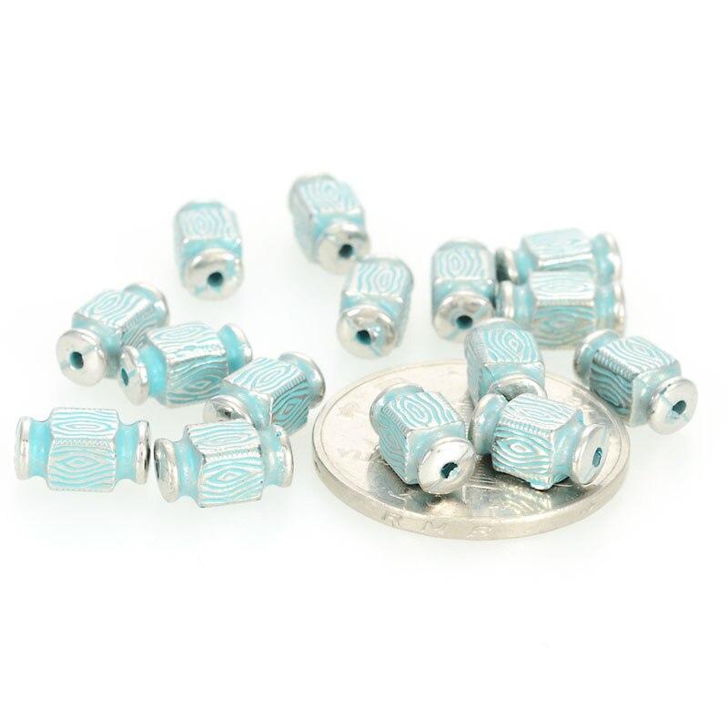 Miasol, 200 piezas, 5x10 MM, Vintage, chapado de acrílico, diseño de estilo antiguo, tubos espaciadores, cuentas para hacer joyería Diy