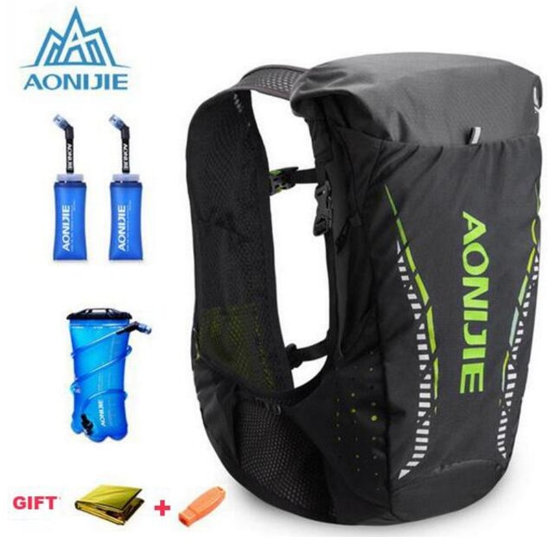 AONIJIE 18L рюкзак для бега, спортивная сумка для занятий спортом на открытом воздухе, гидратационная сумка, марафон для велоспорта, пешего туриз...