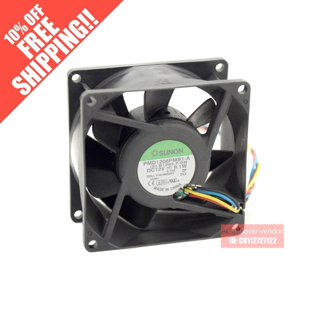 Genuine SUNON SUNON 8cm8038 12 V 9.1 W drive fãs servidor PMD1208PMB1-A