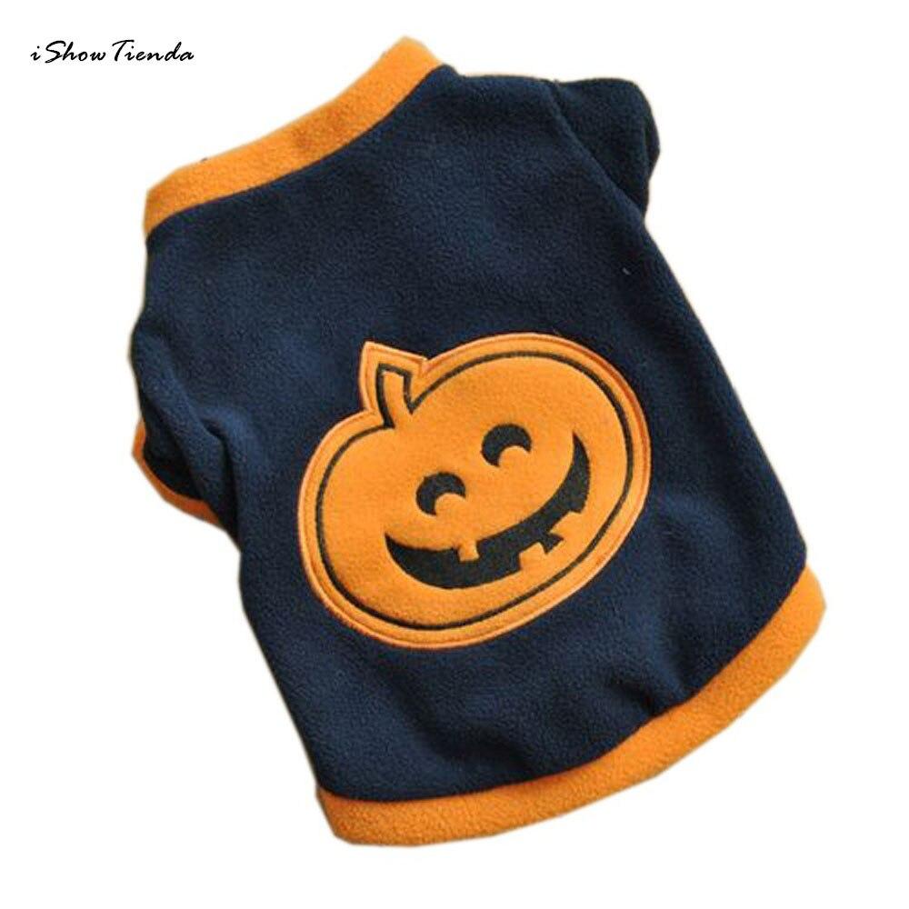 Perro Halloween pumpkint-shirts polar caliente ropa para perros/gatos cachorro lindo paño de vestir perro ropa de verano camiseta de cachorro ropa