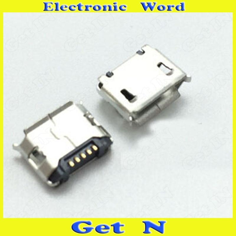 موصلات Micro USB للهاتف الخلوي ، 500 قطعة ، 5P ، مع تجعيد الحافة ، ملحقات الطاولة