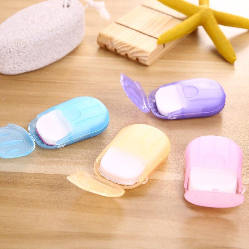 Портативная 20 шт./компл. коробка для хранения мыльных таблеток Мини ручная моющая бумага для мыла на открытом воздухе для деловых поездок одноразовая JJJRY472