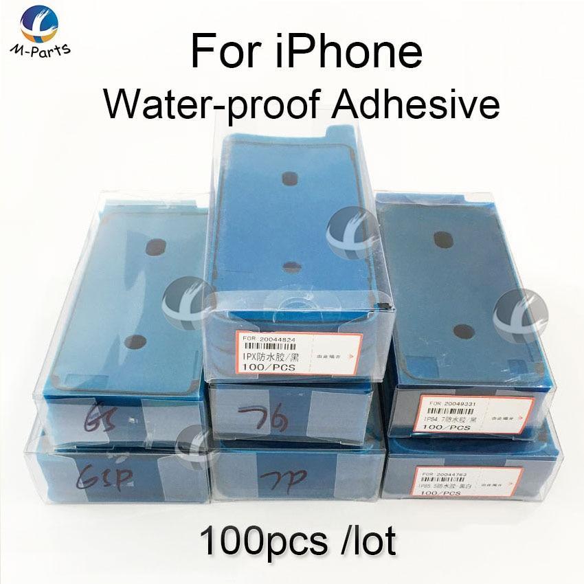 100 قطعة للماء ملصقا لفون SE2 11 برو 6S 7 8 زائد X XS ماكس XR LCD عرض الإطار الحافة ختم الشريط حمض الغلوتاميك 3M لاصق إصلاح