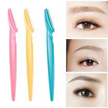 3 Teile/satz Tragbare Augenbraue Trimmer Haar Entferner Set Frauen Gesicht Razor Augenbraue Trimmer Klingen Rasierer Für Make-Up Kosmetische Kit