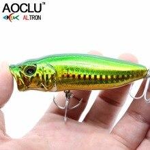 AOCLU воблеры супер качество 4 цвета 80 мм 15 г твердая приманка гольян кривошипный Поппер рыболовные приманки 6 # VMC Крючки снасти плавающая пове...
