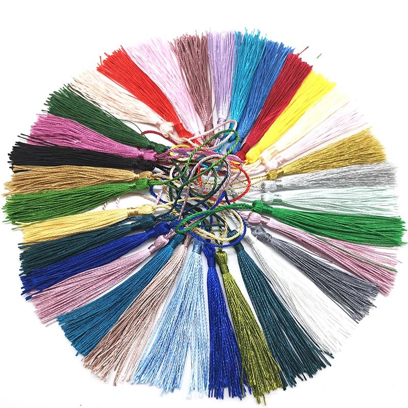 32PCS/Pack mixed color 7cm Hanging rope Silk Tassels fringe sewing bang tassel trim key tassels for