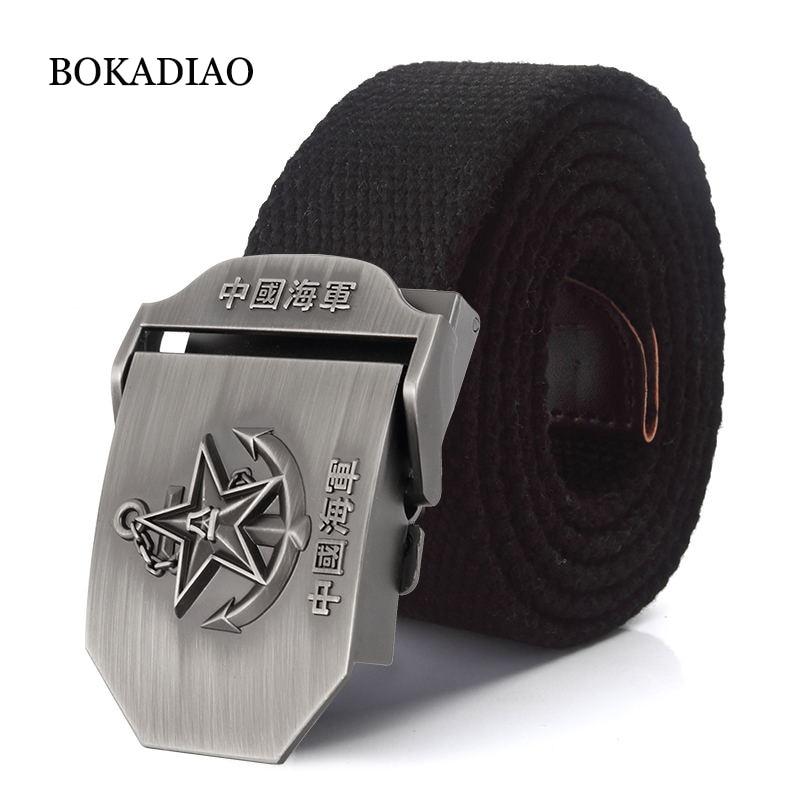 Мужской и женский ремень BOKADIAO, армейский тактический ремень с металлической пряжкой