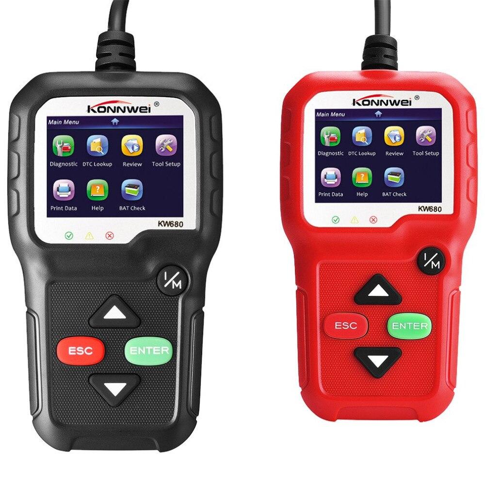 KW680 Автомобильный сканер устранения неисправностей автомобиля диагностический