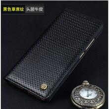 Top étui en cuir de vachette véritable pour Sony Xperia XZ Premium affaires téléphone couverture Flip sac mince peau pour Sony E5563 XZP G8142