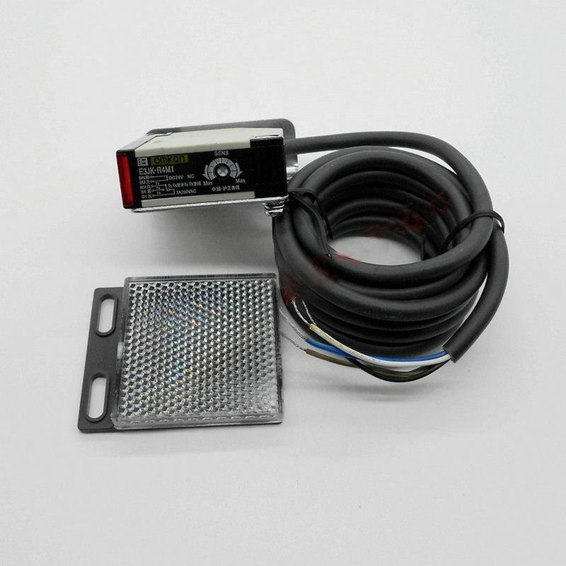 Светоотражающий фотоэлектрический датчик с кабелем 2 м, 12-24 в пост. Тока, 90-250 в перем. Тока, E3JK-R4M1