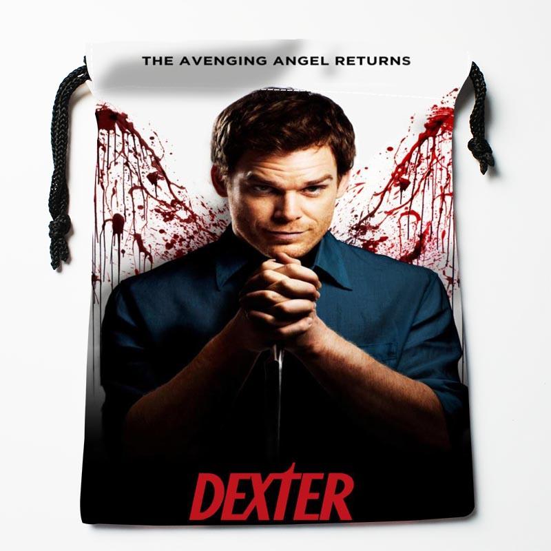 ¡Novedad! bolsos con cordones personalizados Dexter, bolsas de almacenamiento impresas, bolsas de almacenamiento de 18X22cm