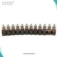 Profesyonel microblading pigmentler kalıcı makyaj mürekkebi Kaş Mikro Dövme Mürekkebi microblade pigment temini