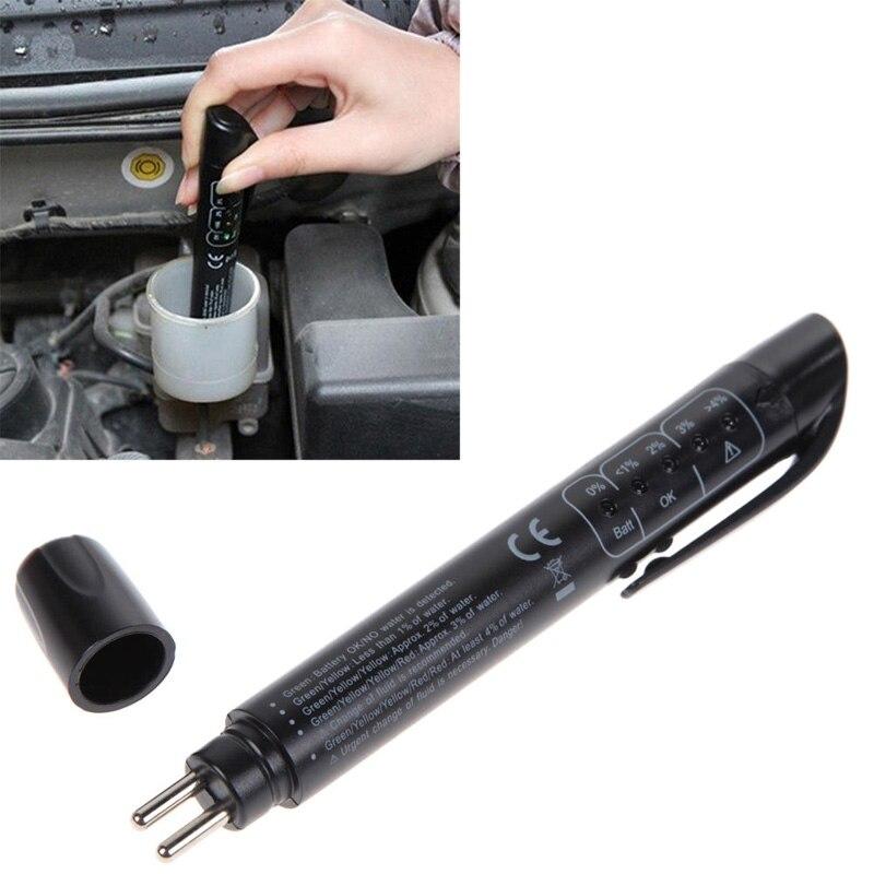 тестер тормозной жидкости 5 светодио дный масла автомобиля Индикатор Ручка обнаружения инструмент автоматического тестирования транспортное средство для диагностики DOT3/DOT4