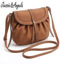 Jiessie & Angela nowy Crossbody torba w stylu Vintage skórzana torebka moda kobiety torby mała torebka pani na ramię Bolosa hurtownie