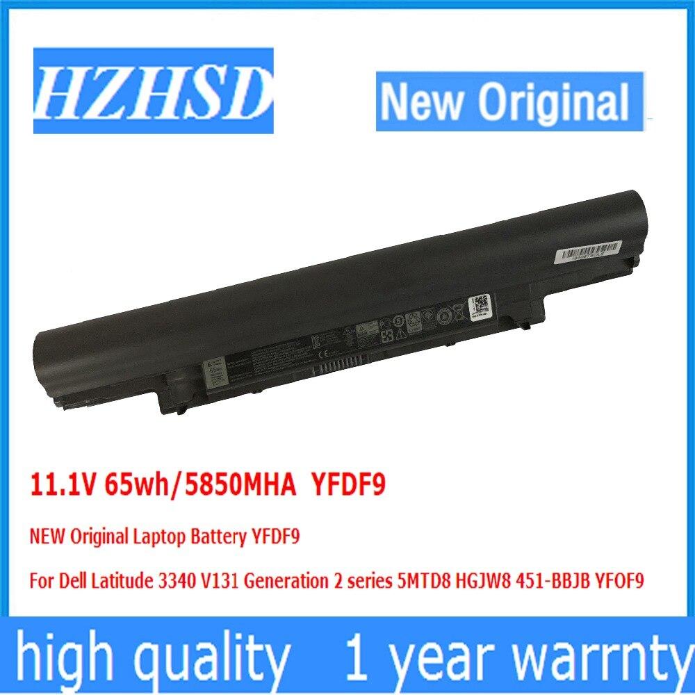 11.1V 65wh/5850MHA YFDF9 NEW Original Laptop Battery For Dell Latitude 3340 V131 Generation 2 5MTD8