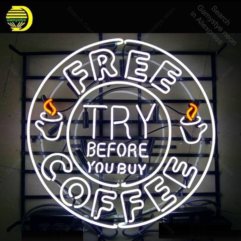 SINAL de NÉON Para O Coffee Shop NEON Lâmpada Lâmpadas India Experimentar Antes de Comprar a Decoração Da Sala de Restaurante Propaganda de Cerveja Hotel barra de Exibição