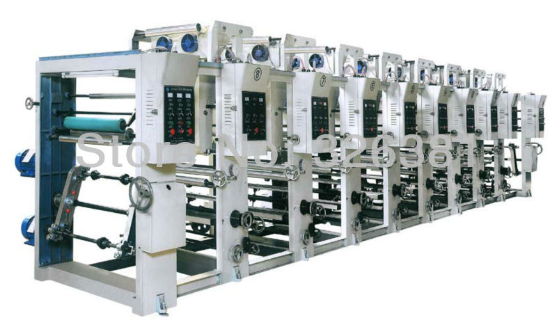 type 800 6 8 groups of normal printing BOPP Printing machine Gravure printing Plastic bag printing machine