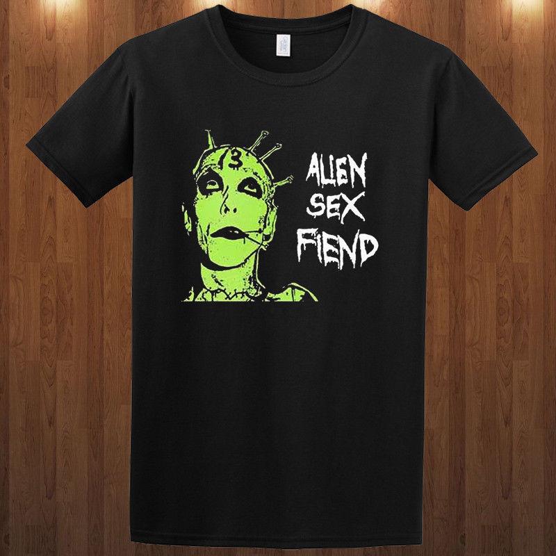 2019 Algodão verão Camiseta Nik em Sexo Alienígena T rock gótico Demônio, a sra. Demônio S M L XL 2XL 3XL T-shirt T-shirt Da Forma