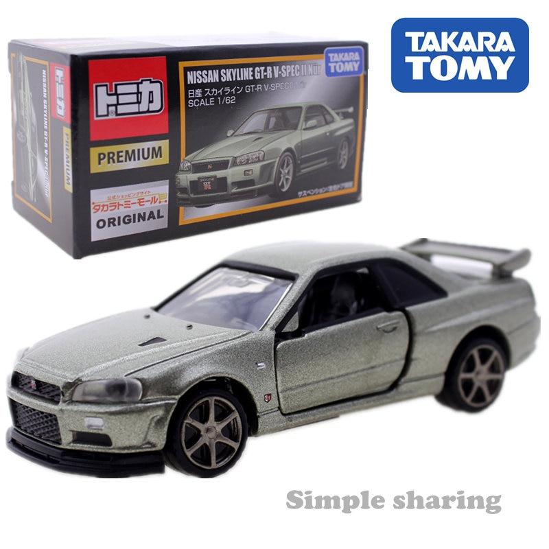 Takara Tomy Tomica Premium Nissan Skyline GTR V SPEC Nur modelo kit 1 62 miniatura coche de juguete fundido a presión juguetes mágicos divertidos para bebés