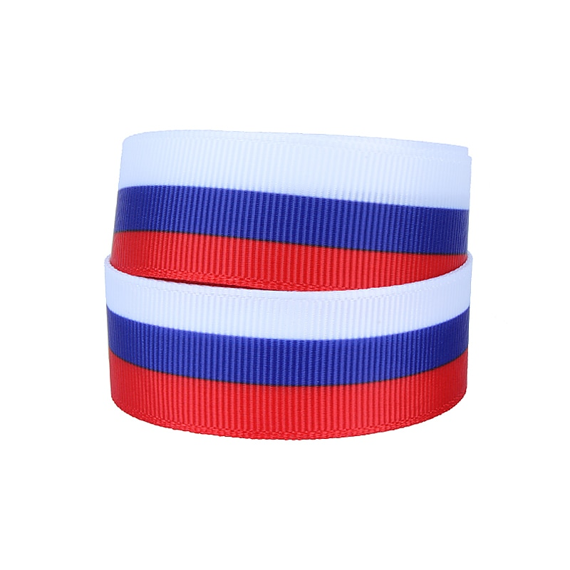FLRA cinta venta al por mayor Bandera de Rusia impreso grosgrain cintas