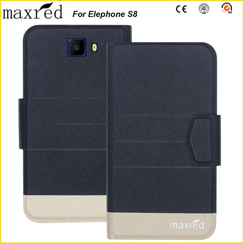 Оригинал! Кожаный чехол Elephone S8, роскошный Ультратонкий флип-чехол для телефона Elephone S8, чехол для телефона с 5 видов цветов