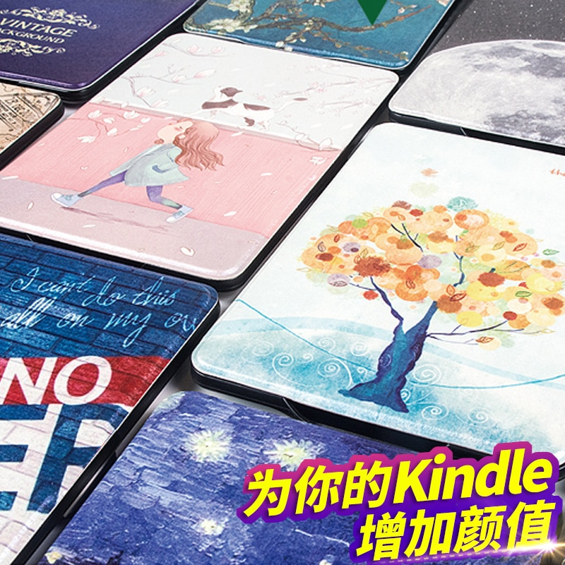 Funda inteligente de cuero PU para Amazon Kindle Paperwhite 4 eReader Funda magnética impermeable Funda Kindle Paperwhite 4 2018 lanzamiento