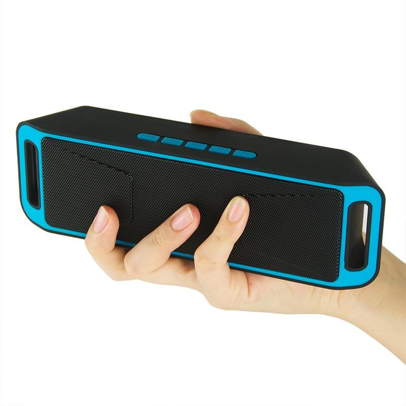 SC-208 Altavoz Bluetooth inalámbrico para exteriores altavoz portátil Bluetooth Mini pequeño Subwoofer pequeño regalo