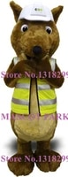 squirrel traffic police mascot costume with reflective vest adult size cute cartoon squirrel theme animal mascotte fancy dress