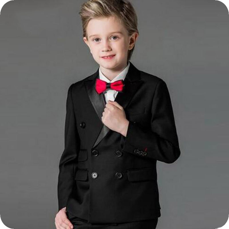 Baby Boys Suits Costume for Boy 2019 Autumn Single Breasted Kids Blazers Suit Formal Wedding Wear Cotton Children Clothing