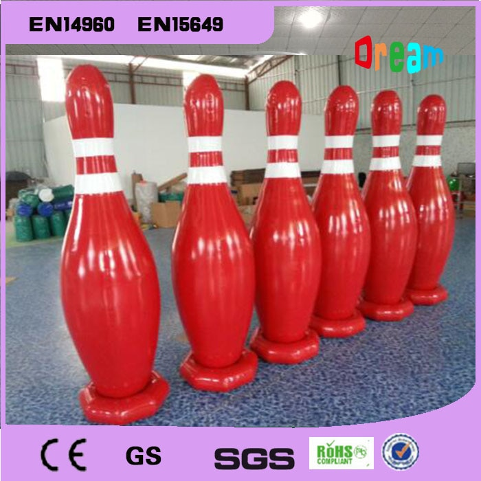 Envío Gratis 6 piezas 1,8 m bolos inflables Pins cuerpo inflable bolera deporte para bolas de bolos humano gratis una bomba